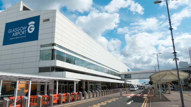 Glasgow Airport (GLA) is an international airport serving Glasgow, in Scotland.